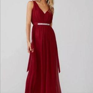 Express rhinestone belted maxi dress chiffon 12